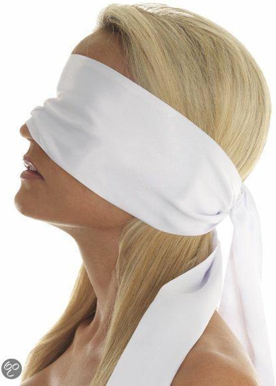 Blinddoek Rimba Wit Polyester-87111